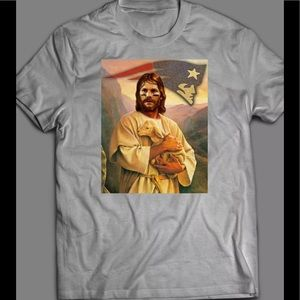 TOM BRADY IS JESUS NEW ENGLAND SHIRT BRAND NEW 🔥